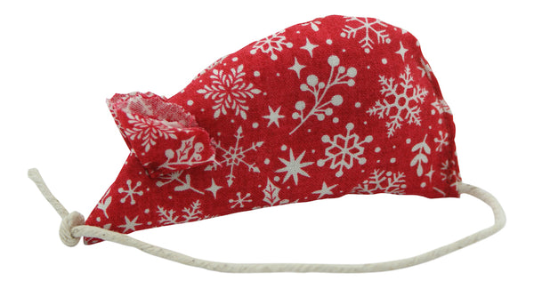 Snowflake Catnip Mouse - Red