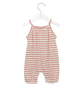 NOA NOA baby confetti stripe jumpsuit - strawberry ice