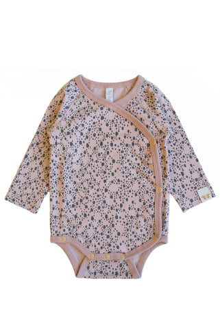 BY HERITAGE Ella L/S wrap body - old pink