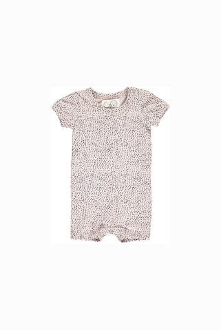 GRO COMPANY BASIS Aesthetic Dots sommersuit - light rose grey