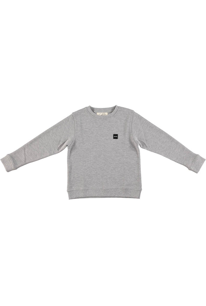 GRO COMPANY BASIS Mc Enroe grey melange sweat