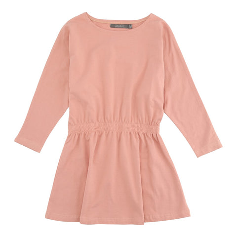 LOUDLY Helena L/S dress - rose tan