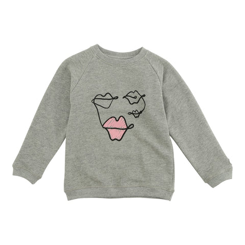 LOUDLY Nova sweatshirt - light grey melange