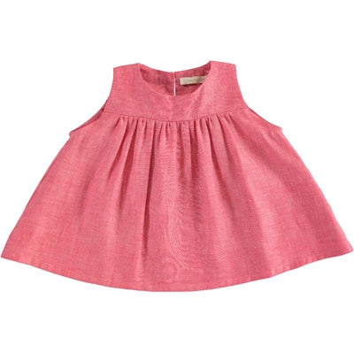 Poppy Rose selena dress pink lino