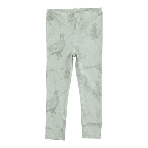 LOUDLY Sky mini leggings - dusty green melange