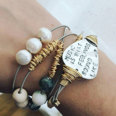 Music Is Guitar String Bangle