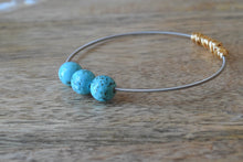 Turquoise Loose Stone Mini Stacking Guitar String Bangle