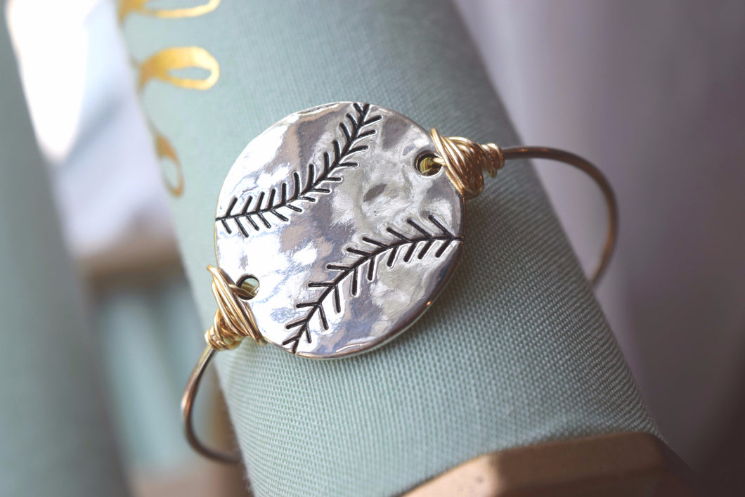 Take me out to the Ballgame Adjustable Bangle