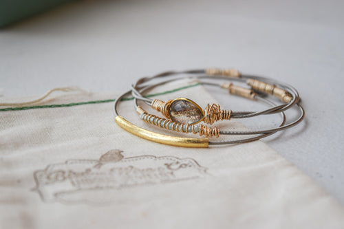 Gold Digger Guitar String Bangle