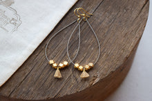 Silver & Gold Guitar String Earrings