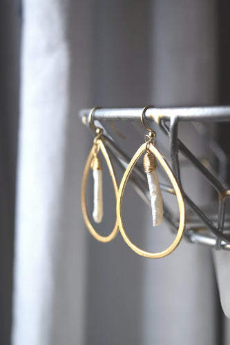Perla Crema Earrings