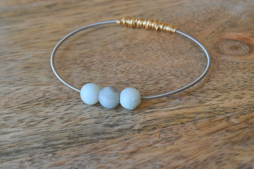 The Mini Seaside Amazonite Loose Stone Guitar String Bangle