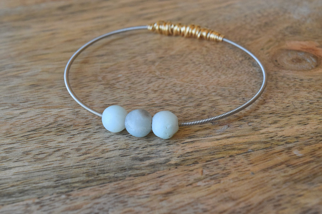 The Mini Seaside Amazonite Guitar String Bangle