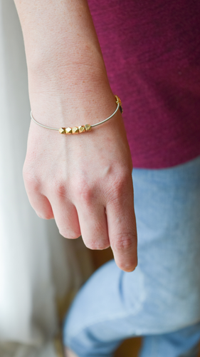 The SIlver & Gold Guitar String Bangle