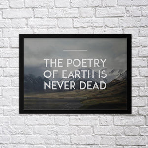 The Poetry of Earth - Northshire Art Prints - Metal Dekorasyon - Poster - Dekorasyon - Ev Dekorasyonu - Duvar Süsü