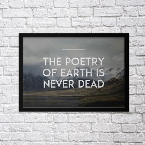 The Poetry of Earth - Northshire - Poster - Dekorasyon - Ev Dekorasyonu - Wall Art - Metal Wall Art - Decoration