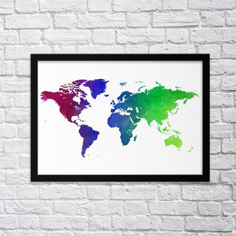 Colorful World Map I - Northshire - Poster - Dekorasyon - Ev Dekorasyonu - Wall Art - Metal Wall Art - Decoration