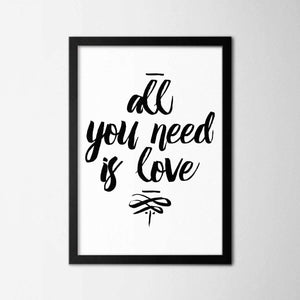 All I Need Is Love - Northshire - Poster - Dekorasyon - Ev Dekorasyonu - Wall Art - Metal Wall Art - Decoration