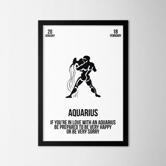 Zodiac - Aquarius - Northshire - Poster - Dekorasyon - Ev Dekorasyonu - Wall Art - Metal Wall Art - Decoration