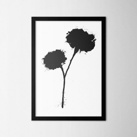 Black Flower - Northshire - Poster - Dekorasyon - Ev Dekorasyonu - Wall Art - Metal Wall Art - Decoration