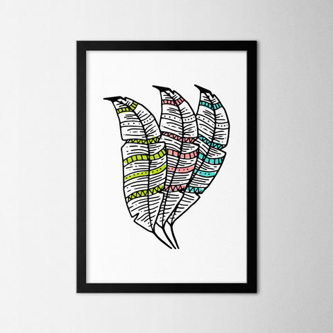Boho Feathers - Northshire - Poster - Dekorasyon - Ev Dekorasyonu - Wall Art - Metal Wall Art - Decoration