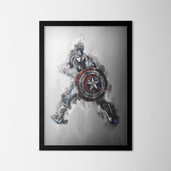 Captain America - Northshire - Poster - Dekorasyon - Ev Dekorasyonu - Wall Art - Metal Wall Art - Decoration