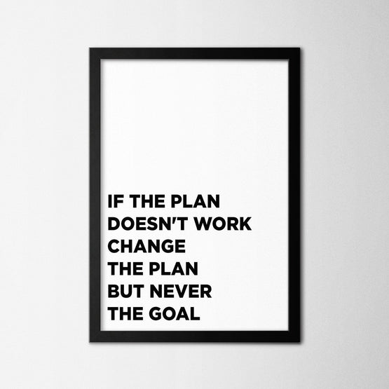 Change the Plan - Northshire - Poster - Dekorasyon - Ev Dekorasyonu - Wall Art - Metal Wall Art - Decoration