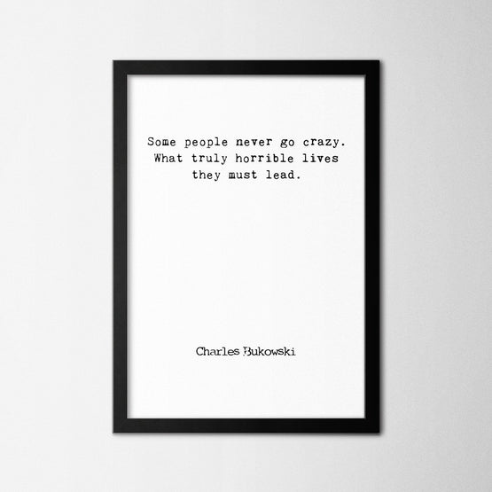 Charles Bukowski I - Northshire - Poster - Dekorasyon - Ev Dekorasyonu - Wall Art - Metal Wall Art - Decoration