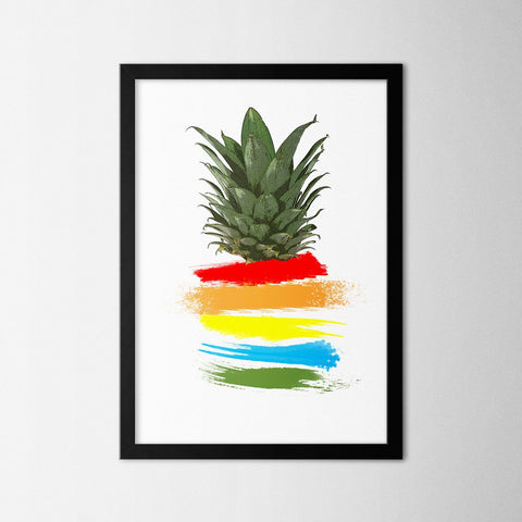 Colorful Pineapple - Northshire - Poster - Dekorasyon - Ev Dekorasyonu - Wall Art - Metal Wall Art - Decoration