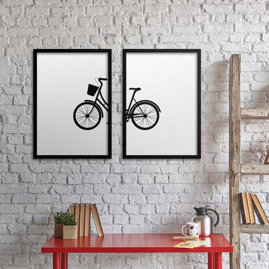 Cykel Poster Set - Northshire - Poster - Dekorasyon - Ev Dekorasyonu - Wall Art - Metal Wall Art - Decoration