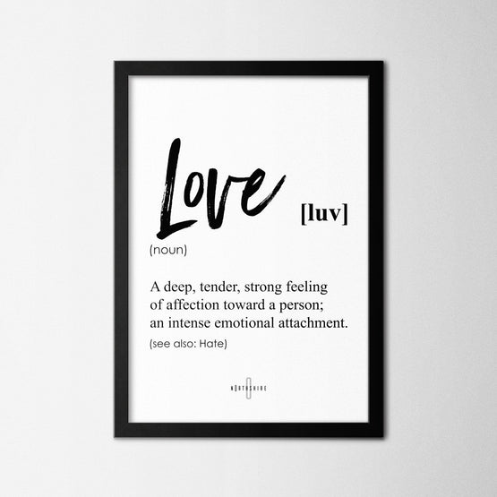 Love - Northshire - Poster - Dekorasyon - Ev Dekorasyonu - Wall Art - Metal Wall Art - Decoration