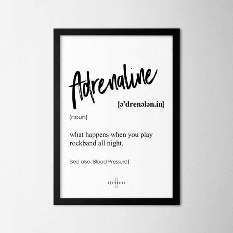 Adrenaline - Northshire - Poster - Dekorasyon - Ev Dekorasyonu - Wall Art - Metal Wall Art - Decoration