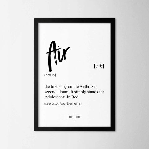 Air - Northshire - Poster - Dekorasyon - Ev Dekorasyonu - Wall Art - Metal Wall Art - Decoration