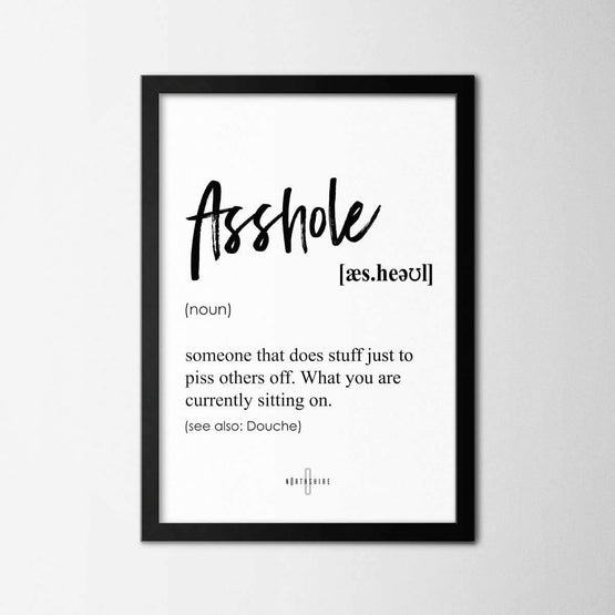 Asshole - Northshire - Poster - Dekorasyon - Ev Dekorasyonu - Wall Art - Metal Wall Art - Decoration