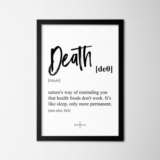 Death - Northshire - Poster - Dekorasyon - Ev Dekorasyonu - Wall Art - Metal Wall Art - Decoration