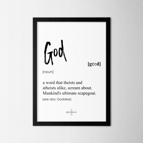 God - Northshire - Poster - Dekorasyon - Ev Dekorasyonu - Wall Art - Metal Wall Art - Decoration