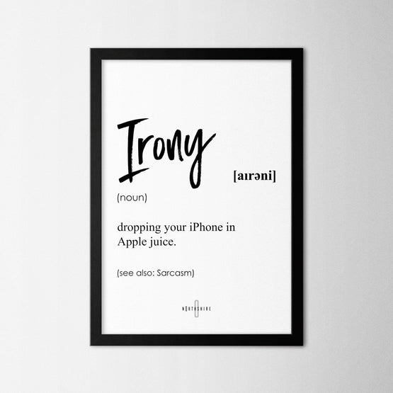 Irony - Northshire - Poster - Dekorasyon - Ev Dekorasyonu - Wall Art - Metal Wall Art - Decoration