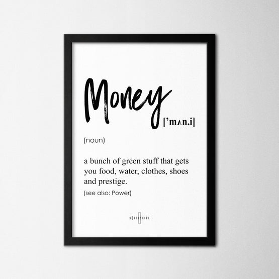 Money - Northshire - Poster - Dekorasyon - Ev Dekorasyonu - Wall Art - Metal Wall Art - Decoration