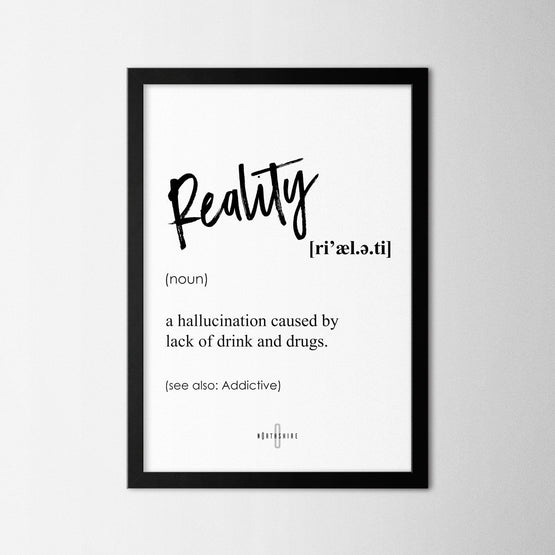 Reality - Northshire - Poster - Dekorasyon - Ev Dekorasyonu - Wall Art - Metal Wall Art - Decoration