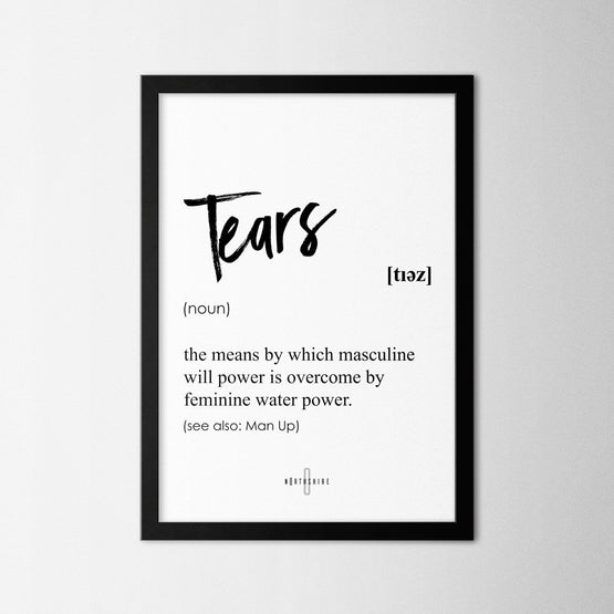 Tears - Northshire - Poster - Dekorasyon - Ev Dekorasyonu - Wall Art - Metal Wall Art - Decoration