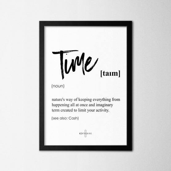 Time - Northshire - Poster - Dekorasyon - Ev Dekorasyonu - Wall Art - Metal Wall Art - Decoration