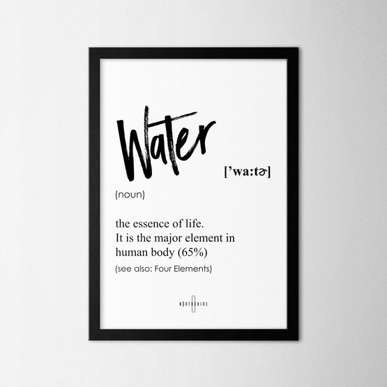 Water - Northshire - Poster - Dekorasyon - Ev Dekorasyonu - Wall Art - Metal Wall Art - Decoration