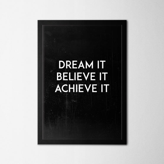 Dream It - Northshire - Poster - Dekorasyon - Ev Dekorasyonu - Wall Art - Metal Wall Art - Decoration