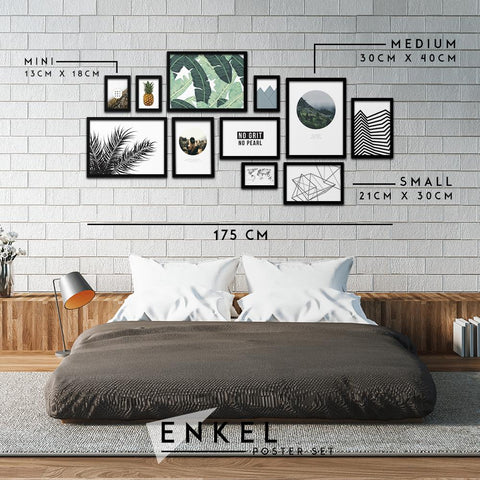 Enkel Poster Set - Northshire - Poster - Dekorasyon - Ev Dekorasyonu - Wall Art - Metal Wall Art - Decoration