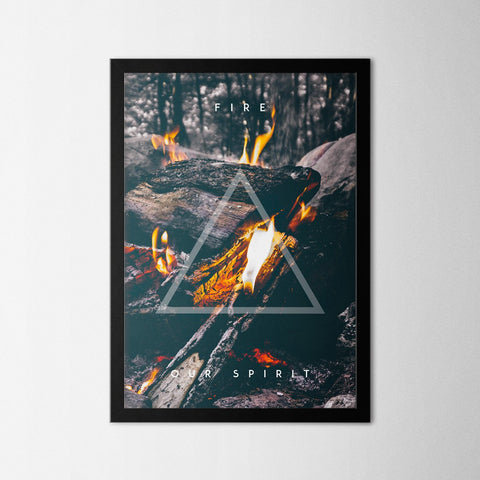 Four Elements - Fire - Northshire Art Prints - Poster - Dekorasyon