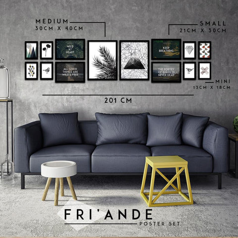 Fri'ande Poster Set - Northshire - Poster - Dekorasyon - Ev Dekorasyonu - Wall Art - Metal Wall Art - Decoration