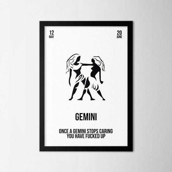 Zodiac - Gemini - Northshire - Poster - Dekorasyon - Ev Dekorasyonu - Wall Art - Metal Wall Art - Decoration