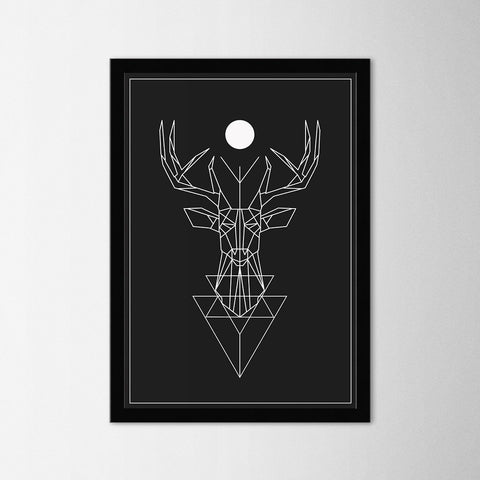 Geometric Deer - Northshire - Poster - Dekorasyon - Ev Dekorasyonu - Wall Art - Metal Wall Art - Decoration
