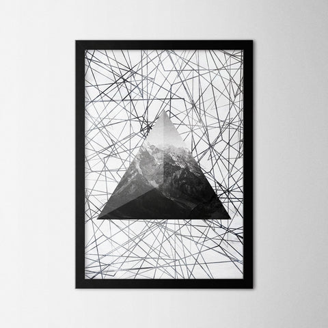 Geometric Mountain - Northshire - Poster - Dekorasyon - Ev Dekorasyonu - Wall Art - Metal Wall Art - Decoration