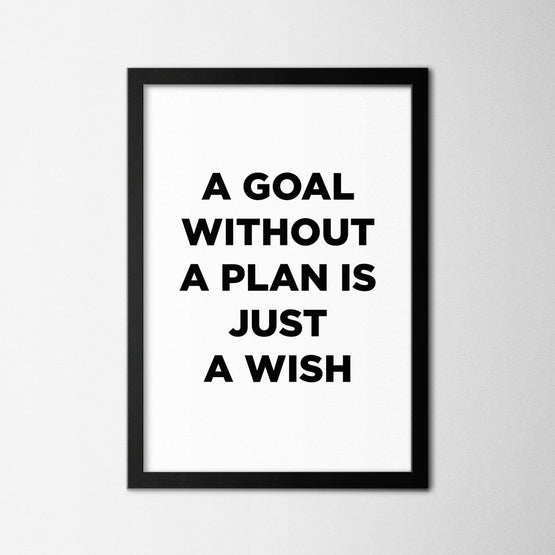 Goal Without a Plan - Northshire - Poster - Dekorasyon - Ev Dekorasyonu - Wall Art - Metal Wall Art - Decoration